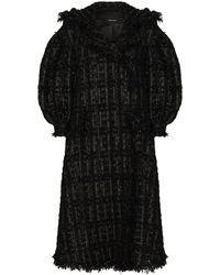 Simone Rocha Beaded Double-breasted Coat - Black