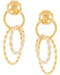 Racil - Interlocking Hoop Earrings - Lyst