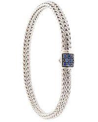 John Hardy Pulsera Classic Chain con zafiro - Metálico