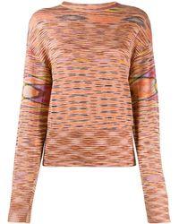Missoni Striped pattern jumper - Orange