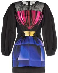 Mary Katrantzou ドローストリングウエスト ドレス - ブラック