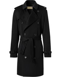 Burberry Double-breasted Trench Coat - Black