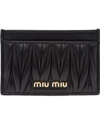 Miu Miu キルティング カードケース - ブラック