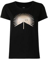 Armani Exchange グラフィック Tシャツ - ブラック