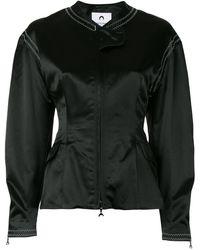 Marine Serre Приталенная Куртка На Молнии - Черный