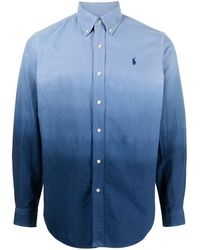 Polo Ralph Lauren Camisa con logo bordado degradado - Azul