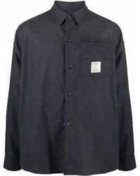 Societe Anonyme Camisa con parche del logo - Gris