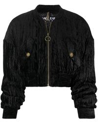 Versace Jeans Couture - クロップド ボンバージャケット - Lyst