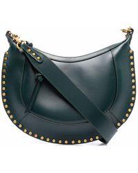 Étoile Isabel Marant Naoko Leather Shoulder Bag - Green