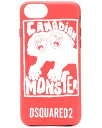 DSquared² Coque d'iPhone 8 Canadian Monster - Rouge