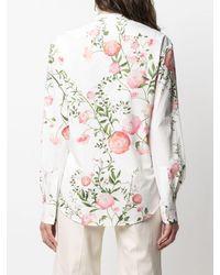 Giambattista Valli Floral-print Long-sleeve Shirt - White