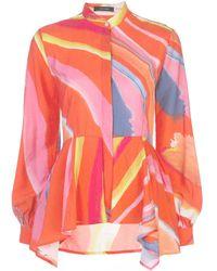 Natori Рубашка С Абстрактным Принтом И Баской - Многоцветный