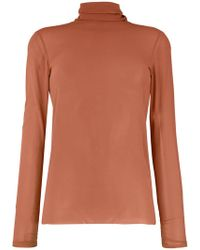 Nude - Turtle Neck Blouse - Lyst