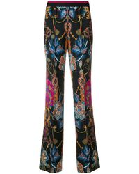 Etro Striped Waisted Flare Leg Trousers - Черный
