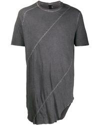 Army Of Me Camiseta larga asimétrica - Gris