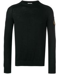 Saint Laurent Sl パッチ セーター - ブラック