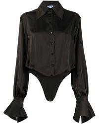Mugler ポインテッドカラー シャツ - マルチカラー