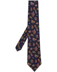 Etro Corbata con estampado de cashmere - Azul
