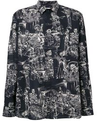 Saint Laurent Mexican Party-print Shirt - Black