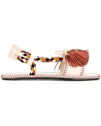 Carven - Braided And Tasselled Sandals - Lyst
