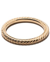 David Yurman - 18kt Yellow Gold Cable Classics Band - Lyst