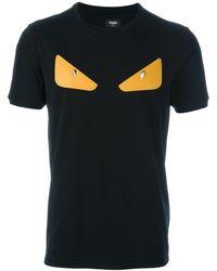 "Fendi T-Shirt mit ""Bag Bugs""-Patch - Schwarz"