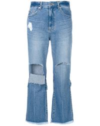 SJYP - Ripped Cropped Jeans - Lyst