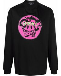 Versace Camiseta con motivo Medusa - Negro