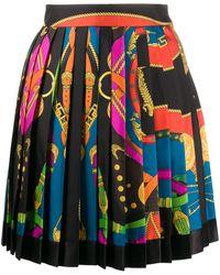 Versace Plooirok Met Print - Zwart