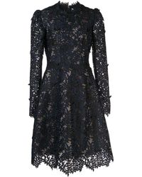 J. Mendel Guipure Lace Cocktail Dress - Black