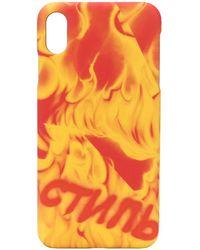 Heron Preston プリント Iphone Xs Max ケース - オレンジ