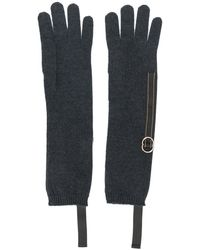 Brunello Cucinelli Bead-embellished Gloves - Gray