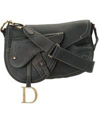 Dior Полукруглая Сумка Через Плечо - Черный