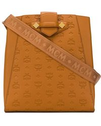 MCM ロゴ ショルダーバッグ - ブラウン