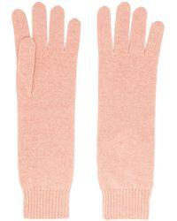 Jil Sander カシミア手袋 - ピンク