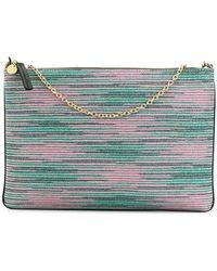 M Missoni - Striped Clutch Bag - Lyst