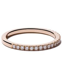 De Beers - 18kt Rose Gold Db Classic Half Pavé Diamond Band - Lyst