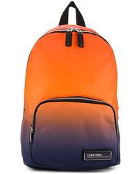 Calvin Klein Gradient Logo Plaque Backpack - Orange
