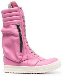 Rick Owens Высокие Ботинки - Розовый