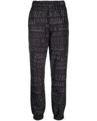 Kirin Logo-print Straight-leg Track Trousers - Black