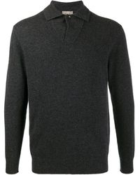 N.Peal Cashmere Кашемировая Рубашка Поло - Серый