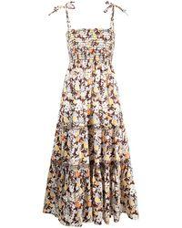 Tory Burch フローラル シャーリング ドレス - マルチカラー