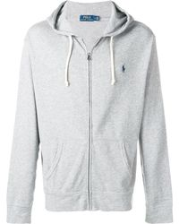 Polo Ralph Lauren Embroidered logo hoodie - Gris
