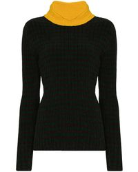 Wales Bonner Brixton Contrasting Neck Sweater - Green