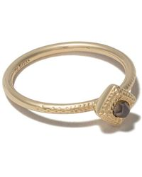 De Beers - 18kt Yellow Gold Talisman Rough Diamond Ring - Lyst