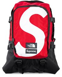 Supreme Рюкзак Из Коллаборации С The North Face - Красный