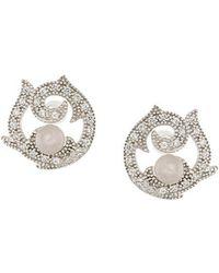 V Jewellery - Rose Arrings - Lyst