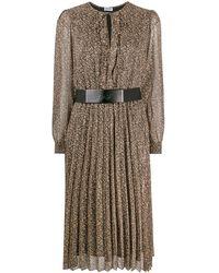Liu Jo プリント ベルテッドドレス - ブラック