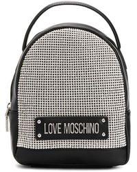 Love Moschino - スタッズ ロゴ バックパック - Lyst