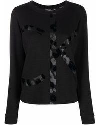 Calvin Klein ロゴ スウェットシャツ - ブラック